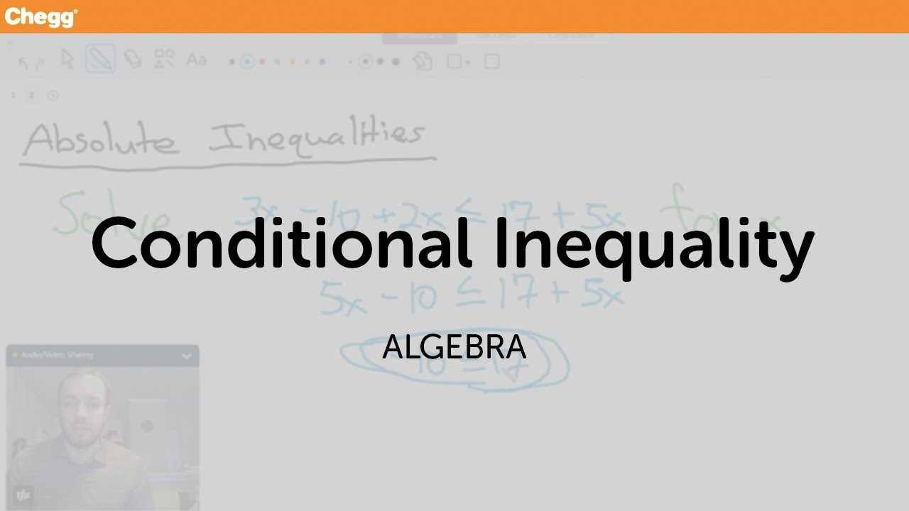 Definition of A Conditional Inequality | Chegg com