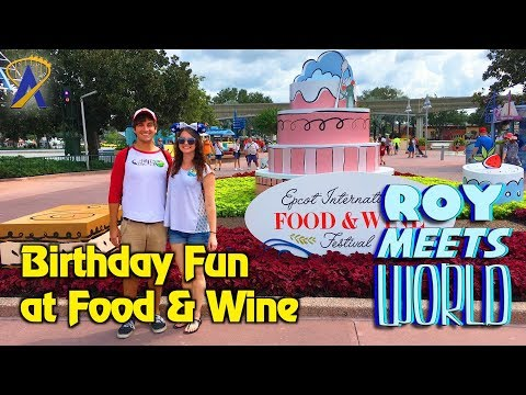 Birthday Fun at Food & Wine and Trader Sam's - Roy Meets World