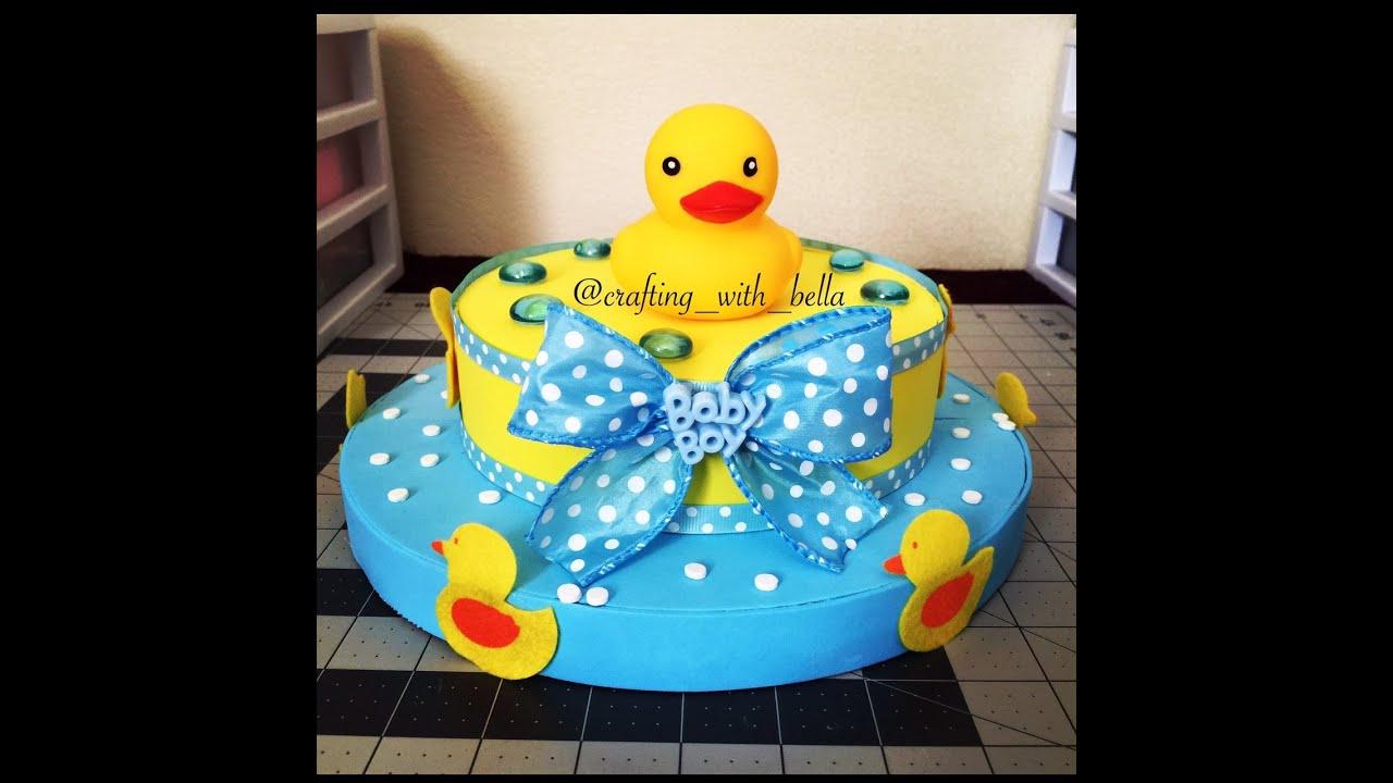 Duck Theme Baby Shower Center Piece Diy Youtube