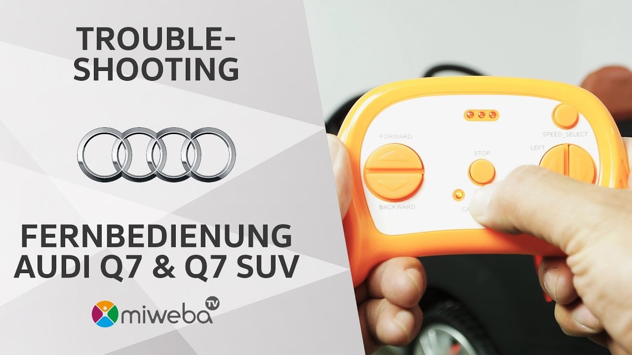 Anleitung Kinder Elektroauto Audi Q7 Q7 Suv Fernbedienung
