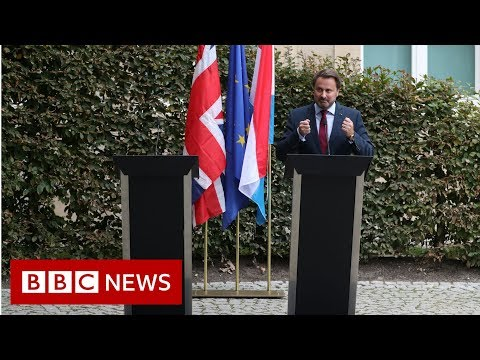 UK PM Boris Johnson cancels a press conference in Luxembourg - BBC News