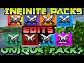Huahwi InFinite Pack Folder V2 |  8  UNIQUE PACKS!! Packs Edits! 1.7+1.8