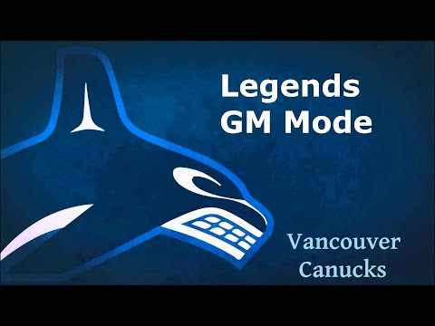 NHL 16 Legends GM Mode Vancouver Canucks Ep. 1 Introduction