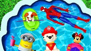 Pool Of Toys Nursery Rhymes and Learn Colors with Super Heroes, Pj Masks and Paw Patrol