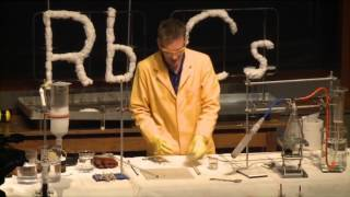 Alkali Metals - 19   Reactions of rubidium and caesium with the air