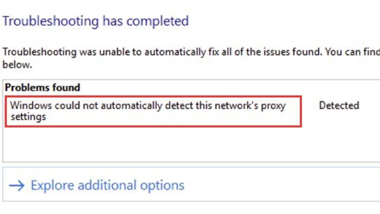 proxy issues