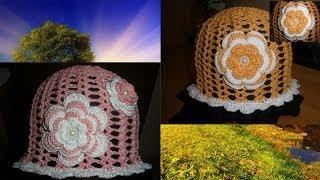 Вязаная панамка (шапочка) крючком. Knitted hat Summer.