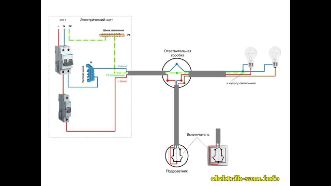 схема включения диммера viko