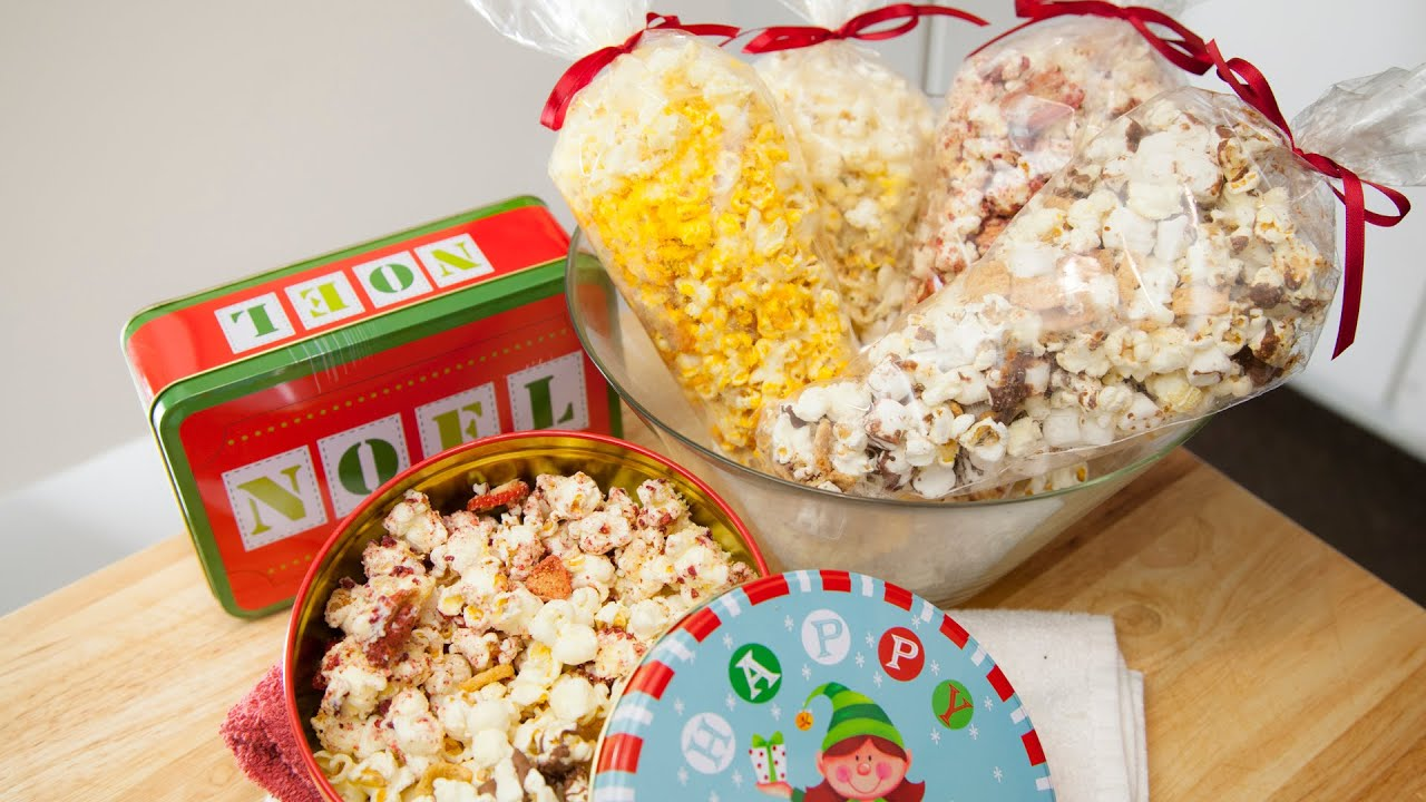 POPCORN, 4 FLAVORS (EDIBLE CHRISTMAS GIFTS) - YouTube
