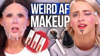 Full Face of WEIRD Makeup (Beauty Break)