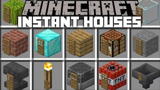 INSTANT HOUSE MOD / SPAWNING INSTANT STRUCTURES WITH JUST ONE BLOCK !! Minecraft Mod
