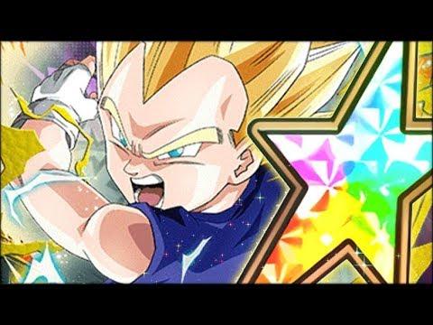 Vegeta Jr Is Legendary 100 Rainbow Star Fully Eza Vegeta Jr Showcase Dbz Dokkan Battle Youtube