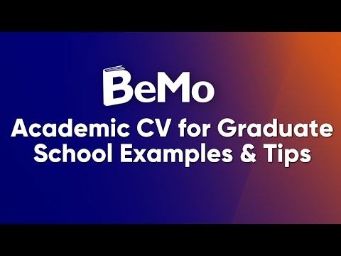 Sample Graduate School CV/Resume & Tips - BeMo