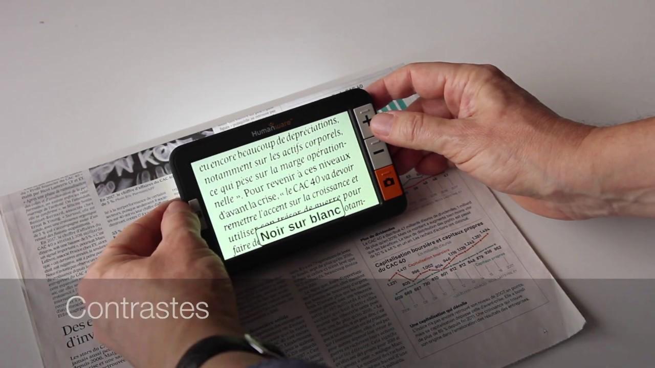 Loupe électronique Explore 5 - confortvisuel.com