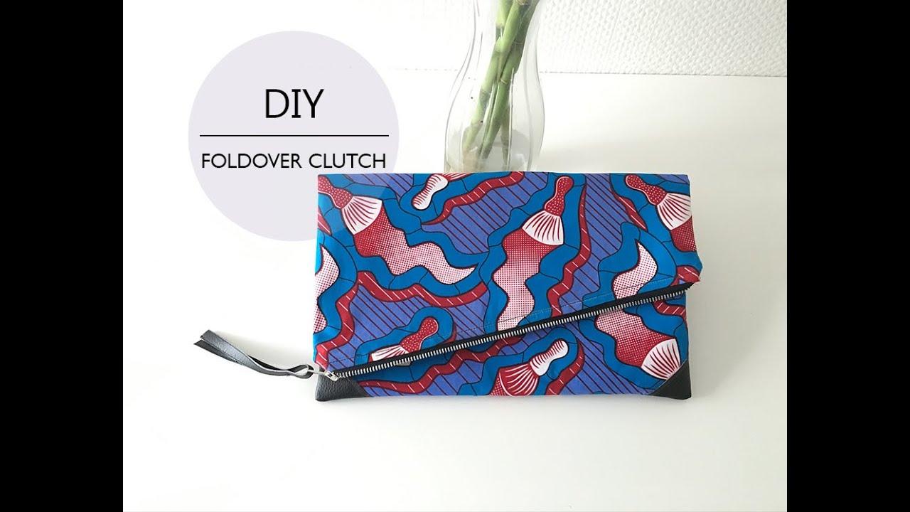 Diy Coudre Une Pochette Pliable How To Diy A Foldover Clutch