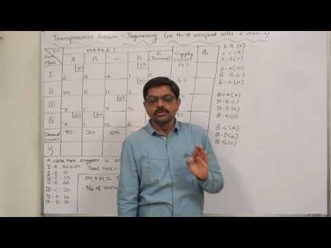 Transportation Problem - 19 Degeneracy at the Initial Solution and its resolution Part 1 of 3