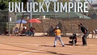 UMPIRE GETTING HIT BY BALLS (BASEBALL FAILS)