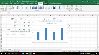 plot graph and do t test on excel