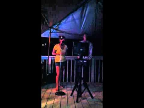 Zachy sings song for Mai Tai