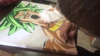 Broly Canvas Timelapse