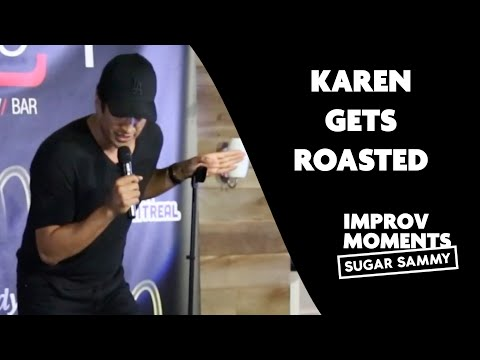 Karen Gets Roasted | Stand up comedy | Sugar Sammy vs heckler