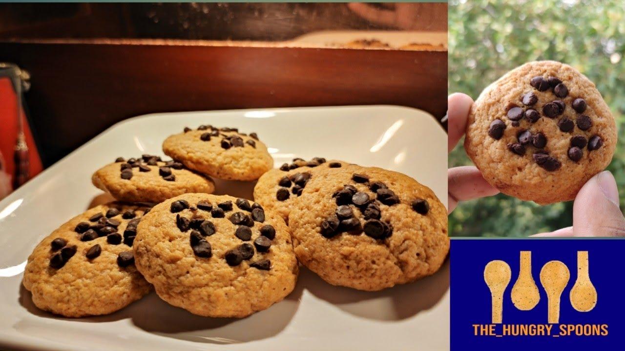 Eggless chocolate chip cookies | Easy cookies recipe ...