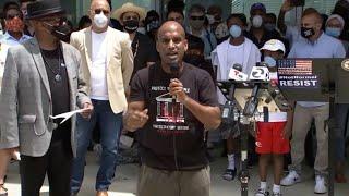 community-leaders-speak-peaceful-rally-george-floyd-california