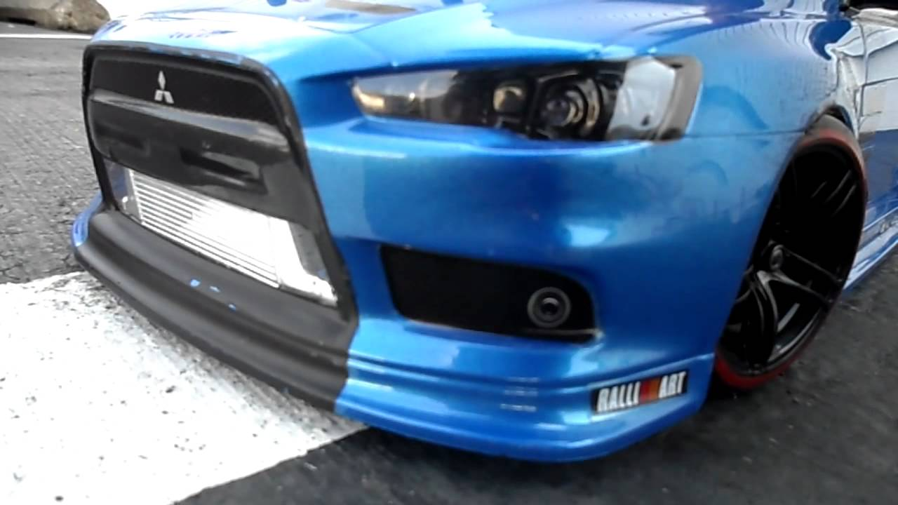 Rc Drift Car Mitsubishi Lancer Evolution X Tuning Youtube