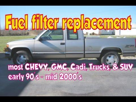 How to change fuel filter - YouTube