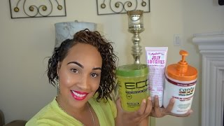 Eco Styler WASH & GO On Short TRANSITIONING 3B/3C HAIR + 5 Step Make Up