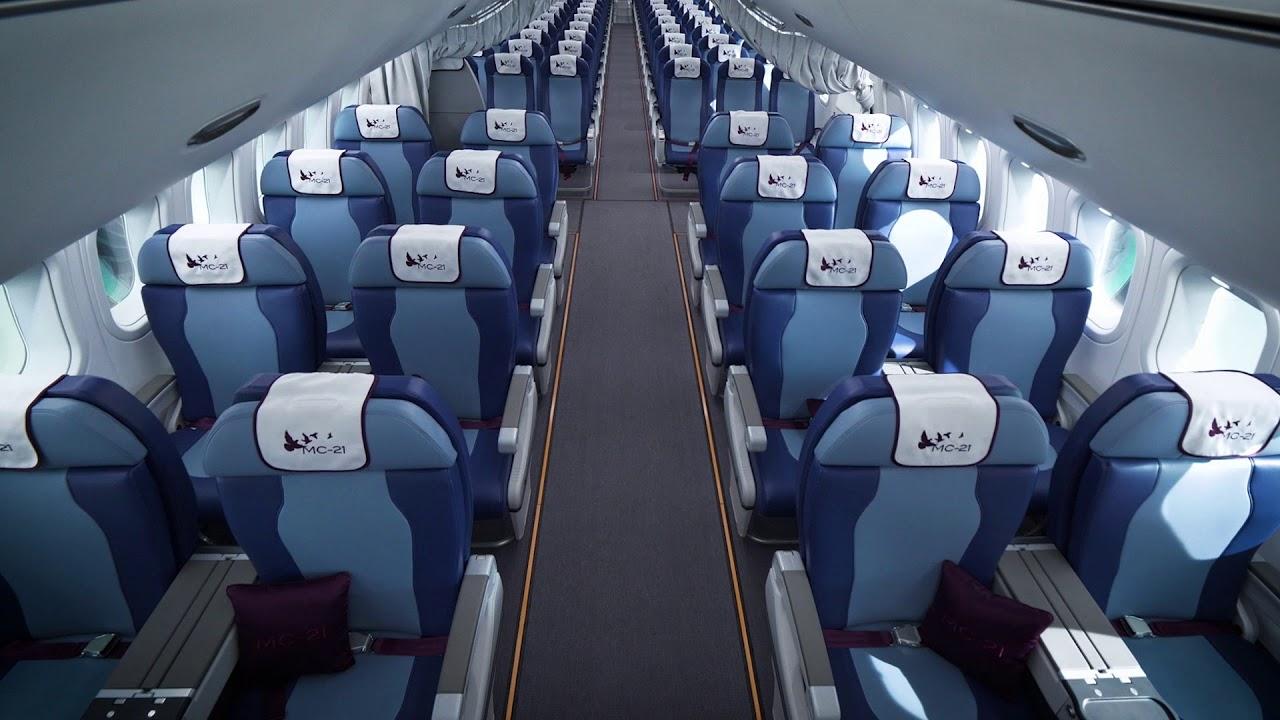 Салон самолета МС-21-300 - YouTube