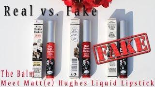 Real vs. Fake: The Balm Meet Matte Hughes Liquid Lipstick