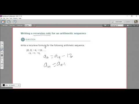 Writing A Recursive Rule For An Arithmetic Sequence