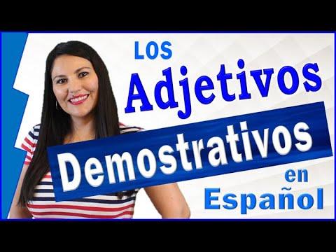 Aprende Gramática De Español- Adjetivos Demostrativos (Este, Ese, Aquel) [Learn Spanish]
