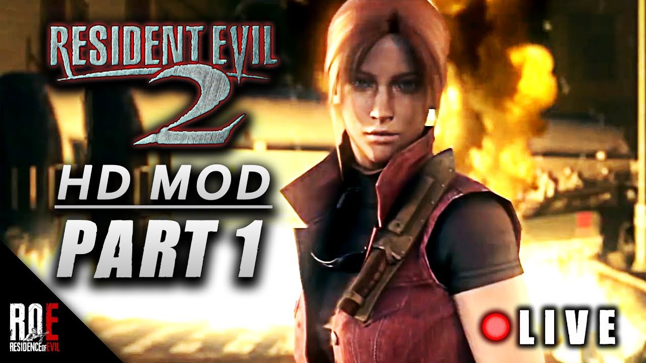 Resident Evil 2 Hd Mod Claire A Part 1 2 Youtube