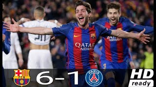 ... barcelona vs psg 1-0 luis suarez 2-0 iniesta v...