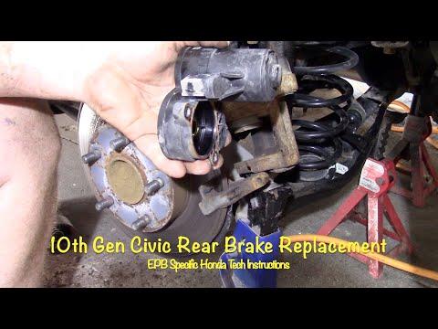 DIY 2016 + Civic Rear Brake Replacement With EPB Using Honda Tech Manual