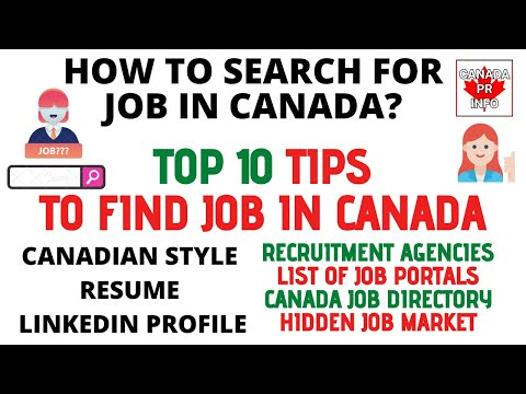 Best Tips To Find A Job In CANADA | How To Find A Job In CANADA | How To Apply | Top 10 Tips
