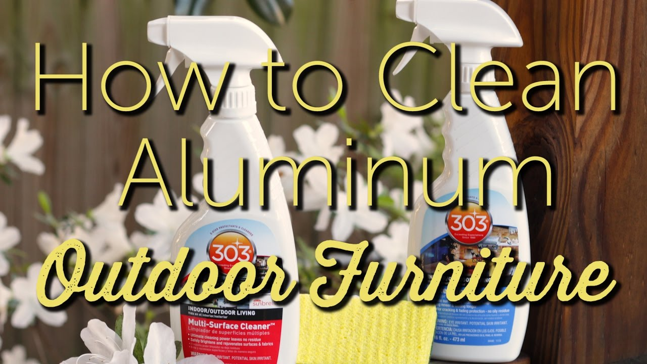 How To Clean Aluminum Outdoor Furniture | Patio Furniture Maintenance