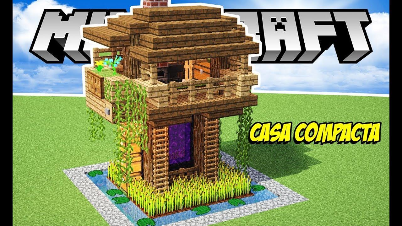 Minecraft tutorial casa simples e compacta para in cio for Casa moderna 6 mirote y blancana
