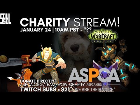 Announcement: Charity Stream on Twitch 1/24! Donate DIRECT to the ASPCA!