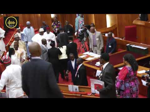 Nigerian Senate on fire.Niger Delta youth Hijacked Mace