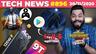 PUBG Mobile India Gameplay, FAUG Pre-registration Live,realme Ace With 125W⚡,Redmi 9T Coming-#TTN896