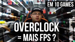 OVERCLOCK DA MAIS FPS? | Teste 10 JOGOS Stock vs Overclock | Pichau Informática