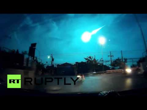 Thailand: Meteor or aliens? Huge fireball lights up sky over Bangkok