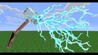 как сделать молот Тора в Minecraft pe