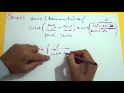 Trigonometri 5 (Açıların Değerleri) Şenol Hoca Matematik