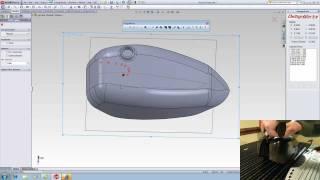 Dezignworks DSM Reverse Engineering Demo - Laser Scanning a Gas Tank Complete - Romer