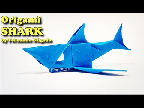 Origami Shark By Fernando Gilgado Yakomoga Origami Easy