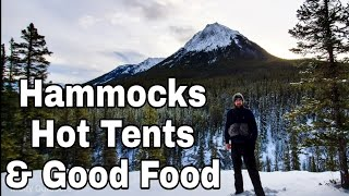 Hammock Camping In Winter! Bąckpacking with Hammocks and Hot Tents!